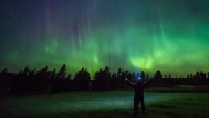 Northern Lights Night Shot Evocative Mysterious